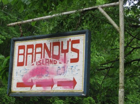 6-01-13P Brandy's Island sign