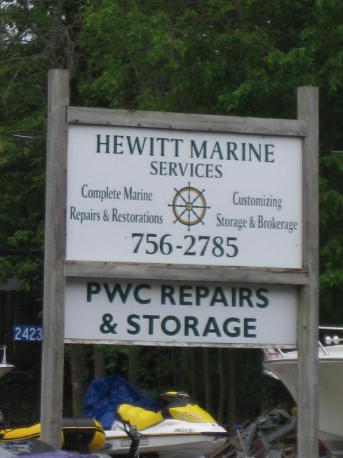 6-01-13Y Hewitt Marine Sign