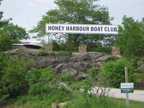 6-01-13Z2 Honey Harbour Sign